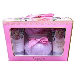 精彩玫瑰浴礼物 4 件套的或类型 (皇家道路) 日本大香槟精彩玫瑰浴礼物