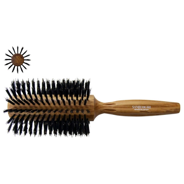 【日本製】 サンビーブラシ HR-502 / サンビHRシリーズ / ヘアブラシ / ペア植毛 / Sanbi Hair Brush HR-502