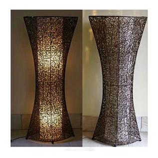 豪華で新しい ラタンのランプ<オーバル> 【バリ雑貨・ラタンのランプ】, カナシチ:687b203f --- dmarketingland.in