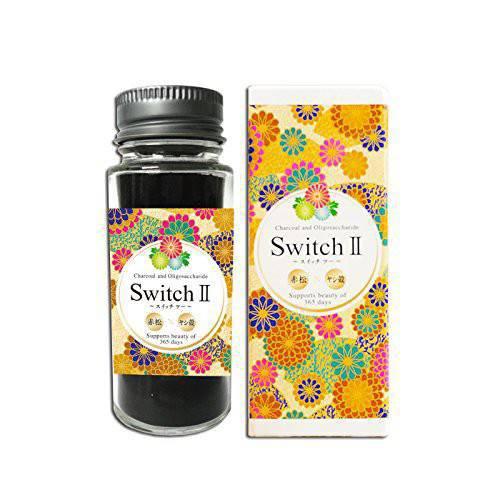 Switch2 スイッチツー 25g x 3個セット 炭とオリゴ糖の粉末サプリメント TVで特集されました話題の活性炭 ファスティング 腸内環境 整腸 デトックス 炭サプリ 正規品 軽減税率適用 送料無料