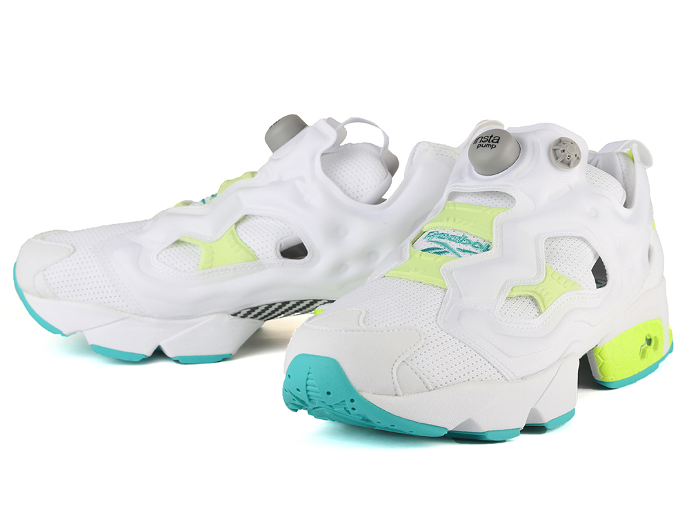 REEBOK INSTA PUMP FURY OG TIMELESS TEAL/WHITE/SOLAR YELLOW Reebok insta  pump fury white green neon yellow