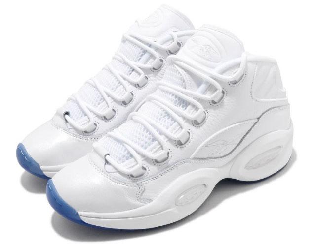REEBOK QUESTION MID ICE ALLEN IVERSONリーボック] クエッション ミッド メンズ バスケットボール シューズホワイト/ホワイト/ホワイト#7