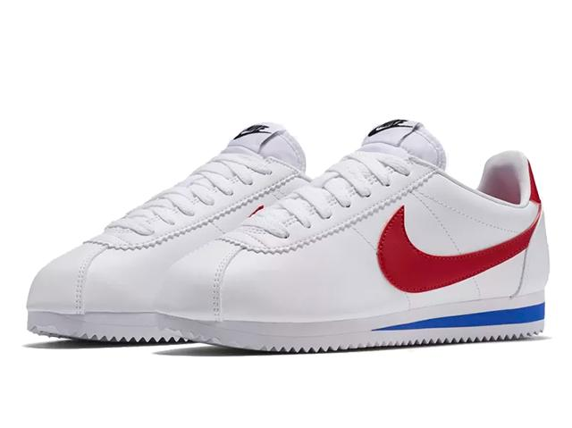 NIKE WMNS CLASSIC CORTEZ LEATHERナイキ ウィメンズ クラシック コルテッツ レザーWHITE/VARSITY RED-VARSITY ROYAL19-1-322
