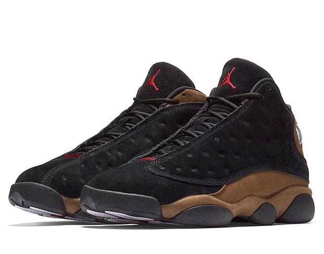 NIKE Air Jordan 13 Retroエアジョーダン 13 レトロ メンズ バスケットボール シューズBLACK/GYM RED-LIGHT OLIVE