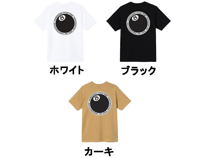 SEAL限定商品 送料込みサービス 3カラー展開 ステューシー STUSSY メンズ トップス Tシャツ BALL ドット エイトボール スーパーセール期間限定 TEE 8 DOT