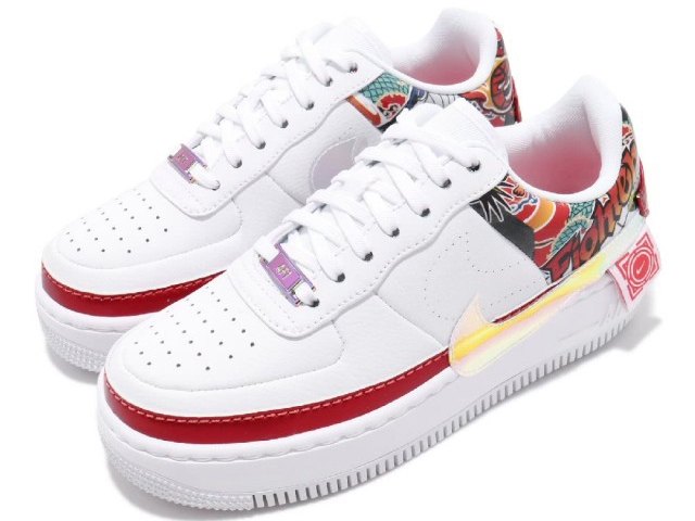 NIKE WMNS AIR FORCE 1 JESTER XX ナイキ ウィメンズ エア フォース 1 ジェスター XX 白マルチ WHITE/MULTI-COLOR-WHITE-EMBER GLOW