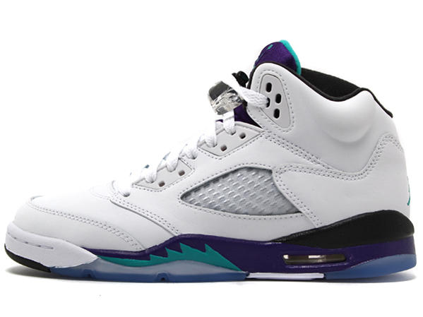 half off d3717 ec021 NIKE AIR JORDAN V RETRO GS Nike Air Jordan 5 retro GS white purple