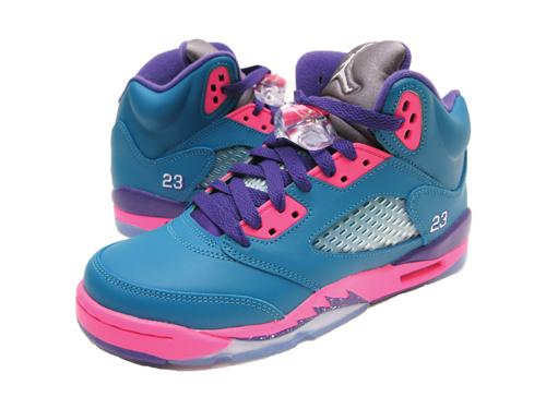 b66648d61e8d1f NIKE AIR JORDAN 5 RETRO GS Teal Pink Purple Nike Air Jordan 5 retro GS Pink  Purple