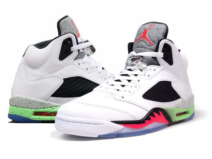 reputable site c9177 b8e2f NIKE AIR JORDAN 5 RETRO Nike Air Jordan 5 retro white green red black