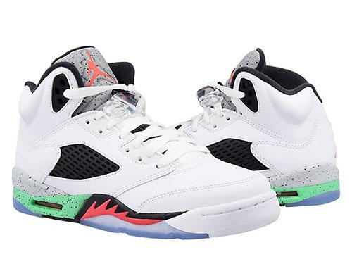 new product 90c2d b9d12 NIKE AIR JORDAN 5 RETRO BG GS-Nike Air Jordan retro 5 low BG (GS) white  green red black