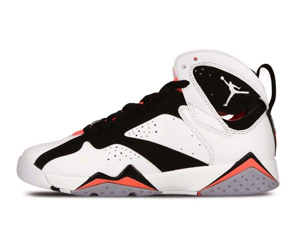 promo code a7ccd b31ed NIKE AIR JORDAN 7 RETRO GG is. One leg and was released to celebrate the  30th anniversary of the Jordan series! White body black x hot lava pink  color is ...