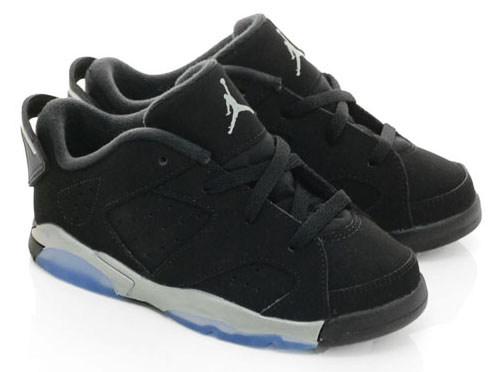NIKE JORDAN 6 RETRO LOW BT TD-Nike Jordan 6 retro low toddler black white  silver e10d640af