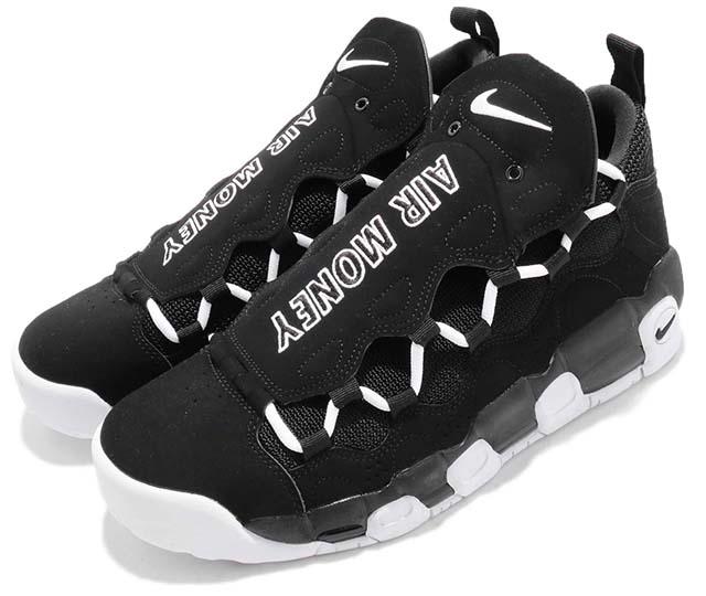 NIKE AIR MORE MONEY ナイキ エア モア マネー メンズ バスケットボール シューズブラック/ホワイト 黒白