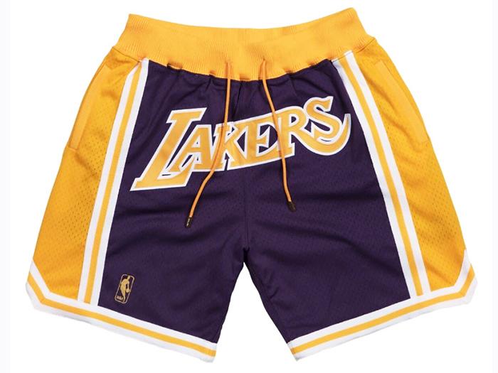 JUST DON MITCHELL&NESS NBA LAKERS SHORT【96-97 ROAD】【96-97ロード】ジャストドン ミッチェル&ネス レイカーズ バスケット ショーツ