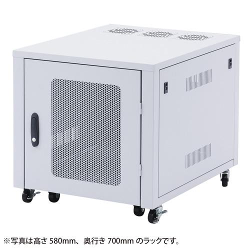 置き型用サーバーラック(W570×D700mm) CP-SVBOX2N サンワサプライ 【代引き不可商品】