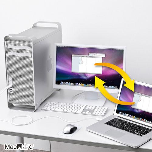 【500円OFFクーポン配布中 ~4/26 01:59まで】ドラッグ&ドロップ対応USB2.0リンクケーブル(Mac/Windows対応) KB-USB-LINK3M サンワサプライ