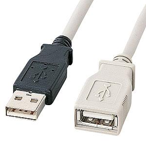 【サンワサプライ】KU-EN5K 【割引クーポン配布中 9/11 01:59まで】USB延長ケーブル 5m ライトグレー KU-EN5K サンワサプライ