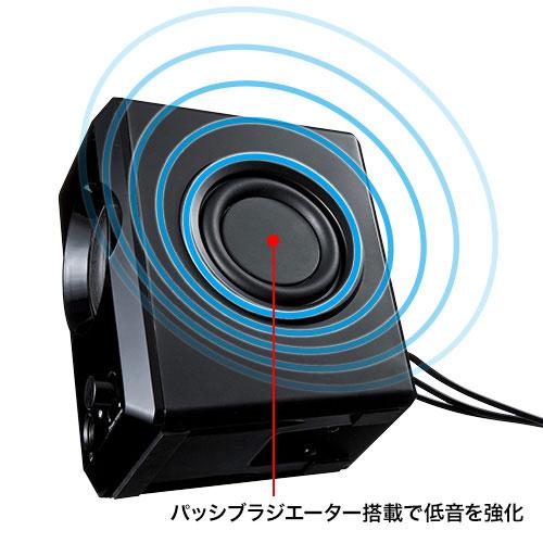 USB電源マルチメディアスピーカー MM-SPL8UBK サンワサプライ