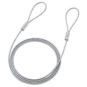 サンワサプライ SLE-1W 訳あり 国際ブランド 新品 eセキュリティで使用するワイヤー 長さ1.5m 汚れあり 径3.5mm ※箱にキズ ネコポス対応 ※アウトレット品