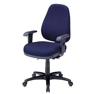 座る人の体型に合わせて5カ所の細やかな調整が可能なハイバックの、OAチェアー(肘付・ブルー) SNC-5MTBL サンワサプライ【送料無料】