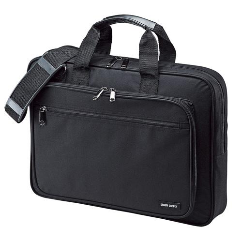 サンワサプライ BAG-U52BK2 割引クーポン配布中 9 11 01:59まで 訳あり アイテム勢ぞろい 新品 15.6型ワイドまで対応 ※箱にキズ PCキャリングバッグ ビジネス チープ シングルタイプ ブラック 汚れあり