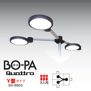 LEDデスクスタンド(オフィス・工場向け・3人用・BO-PA-Quattro-) BO-8803 サンワサプライ