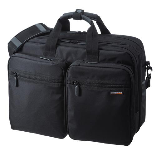 ビジネスバッグ(3WAY・リュック・手提げ・ショルダー・出張・PC・タブレット) BAG-3WAY21BK サンワサプライ【送料無料】