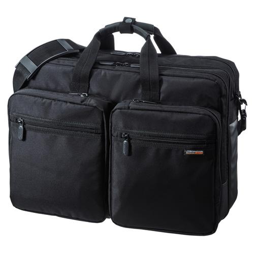 ビジネスバッグ(3WAY・リュック・手提げ・ショルダー・出張・大容量・PC・タブレット) BAG-3WAY22BK サンワサプライ【送料無料】
