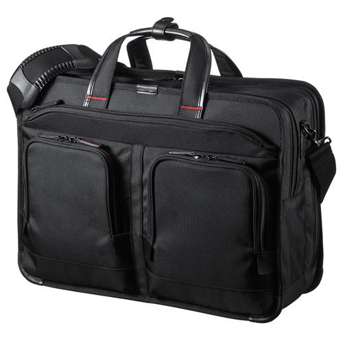 ビジネスバッグ(撥水・軽量・2WAY・ショルダー・手提げ・大容量・通勤・A3・メンズ・黒) BAG-EXE9 サンワサプライ