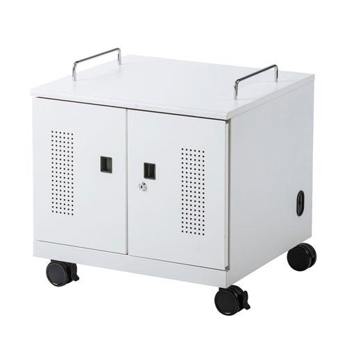 ノートパソコン収納キャビネット(6台収納・ロッカー・保管庫・鍵付き) CAI-CAB105W サンワサプライ【送料無料】