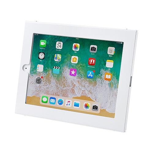【割引クーポン配布中 ~3/11 01:59まで】【訳あり 新品】iPad用壁面取付けケース(iPad Air/Air2、9.7インチiPad Pro、9.7インチiPad 2017・角度調整機) CR-LASTIP26W サンワサプライ ※箱にキズ、汚れあり