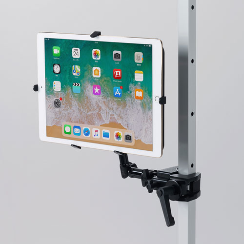 iPad・タブレット用支柱取付けアーム(9.7~13インチ対応) CR-LATAB27 サンワサプライ【送料無料】