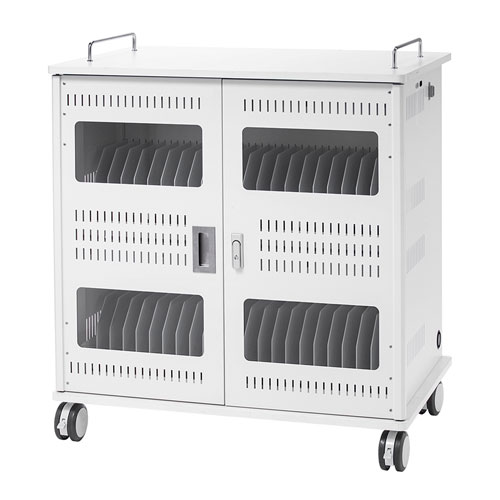 タブレット収納保管庫 44台鍵付き 14インチまで キャスター付 移動可能 CAI-CAB56W サンワサプライ