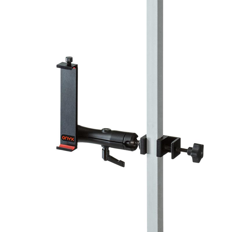 タブレットホルダー 支柱取り付け用 2関節 アルミ製 クランプ式 CAR-SPHLD6 サンワサプライ