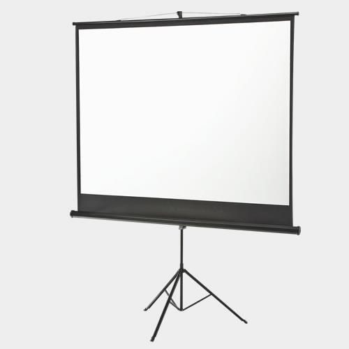 プロジェクタースクリーン スタンド式 100インチ 三脚一体型 100型  ハンドル付き スリム コンパクト収納 会議室 プレゼン ホームシアター