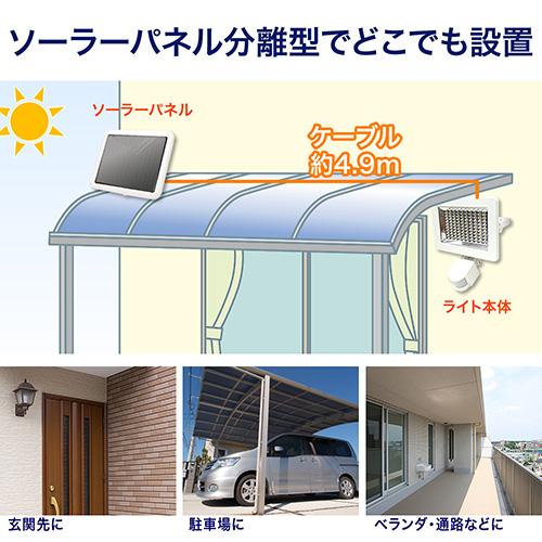 【割引クーポン配布中 ~5/7 09:59まで】LEDセンサーライト(ソーラー・防水・人感・屋外・玄関・照明・感知・防犯・1000ルーメン・明るい・高輝度・おすすめ) EEX-LEDSR05