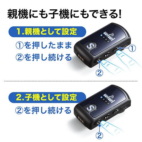 ガイド用イヤホンマイク2台セット(ハンズフリー・ツアー/講義・最大255台接続・スピーカー/スピーカー双方向対応) EZ4-HSGS001-2