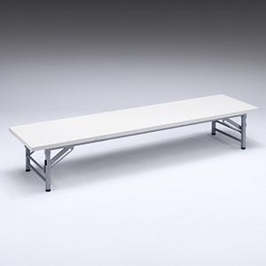 折り畳める会議用テーブル(ホワイト・座卓タイプ) EED-FD008W【送料無料】