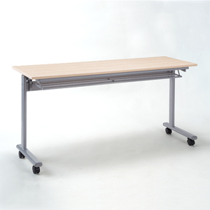 【只今セール価格】折りたたみテーブル・フォールディングデスク(メープル木目・W1500×D450) EED-FD011LM