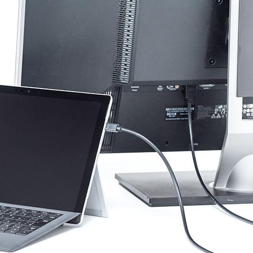 【500円OFFクーポン配布中 ~4/26 01:59まで】Mini DisplayPort-DisplayPort変換ケーブル(4.5m・4K/60Hz対応・Thunderbolt変換・DisplayPort Ver1.2準拠) EZ5-KC027-45