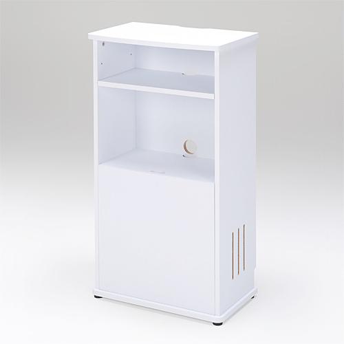 電話台 ルーター 収納 ボックス 電源タップ 無線LAN 収納スタンド(ホワイト) EZ1-DESK066W【送料無料】