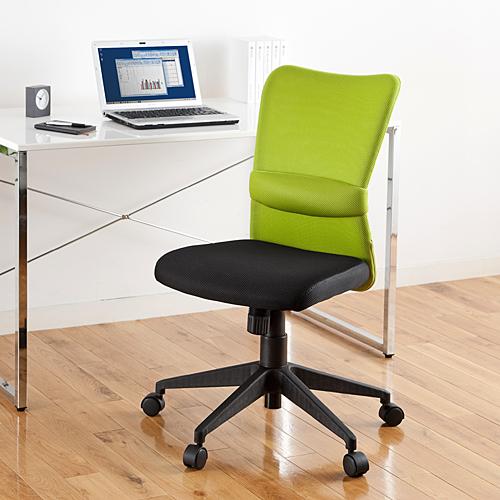 メッシュチェア オフィスチェア ネットチェア ロッキング ミドルバック(グリーン) EZ15-SNC055G