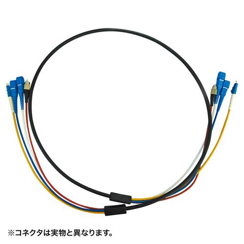光ファイバ-ケーブル(ロバスト・防水・30m・4芯・ブラック・LCコネクタ・シングルモード・高強度) サンワサプライ HKB-LCLCWPRB1-30 サンワサプライ