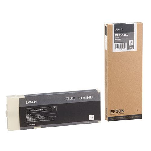 【エプソン純正インク】インクカートリッジ ブラック LLサイズ ICBK54LL