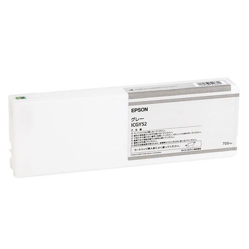 【エプソン純正インク】インクカートリッジ グレー ICGY52 【受注発注品】