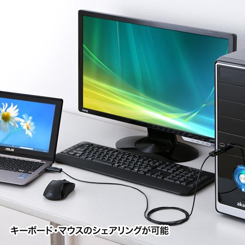 【500円OFFクーポン配布中 ~4/26 01:59まで】ドラッグ&ドロップ対応USB2.0リンクケーブル(Windows専用) KB-USB-LINK3K サンワサプライ
