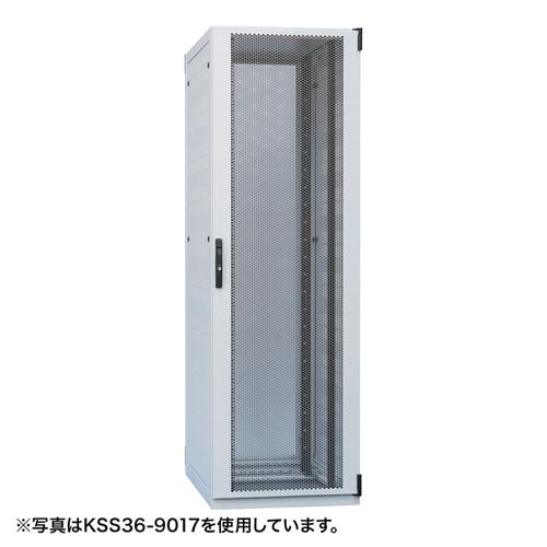 サーバーラック(42U・自然換気仕様・W600×D900×H2000mm) 【代引き不可商品】 KSS42-9020 サンワサプライ