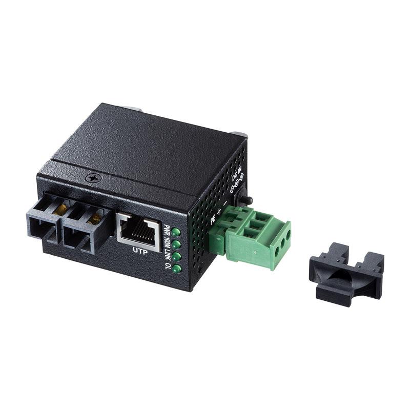 【訳あり 新品】産業用光メディアコンバータ 小型 軽量 LAN-NFC241 サンワサプライ ※箱にキズ、汚れあり
