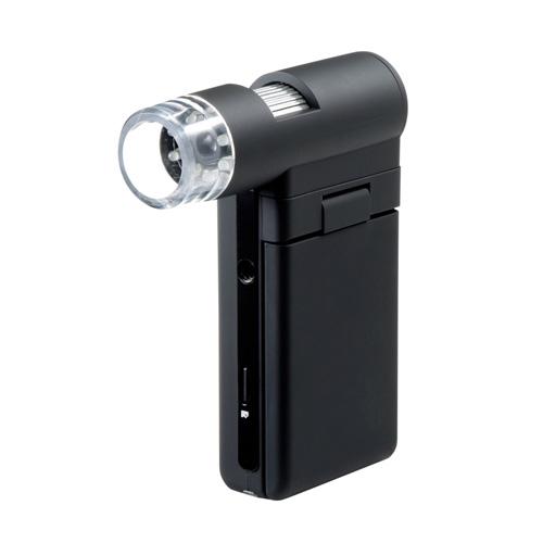 マイクロスコープ(モニター付き・デジタル・顕微鏡・最大300倍・スタンド・ハンディ・小型) LPE-05BK サンワサプライ