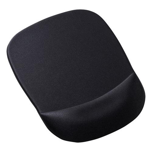 【サンワサプライ】MPD-MU1NBK 低反発リストレスト付きマウスパッド ブラック MPD-MU1NBK サンワサプライ